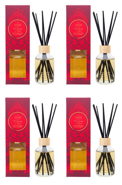 Hollyberry & Clove Scented Room Diffuser 4 Pack