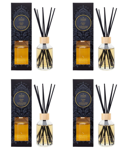 Amber Noir Scented Reed Diffuser 4 Pack