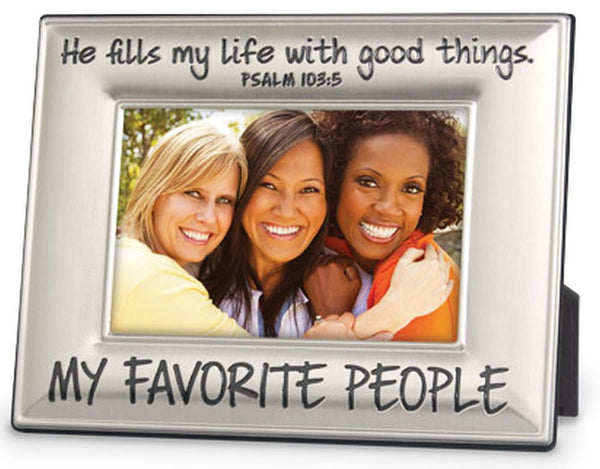Bevelled Metal Frame - My Favorite People Picture Frame