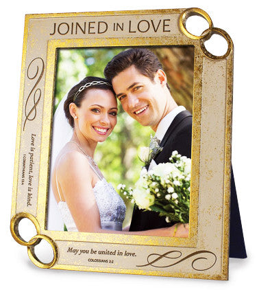 Joined in Love Series - Photo Frame - Colossians 2:2 & 1 Corinthians 13:4