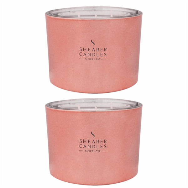 Cerise Multi-Wick Candle in Rose Gold Metallic Jar 2 pack