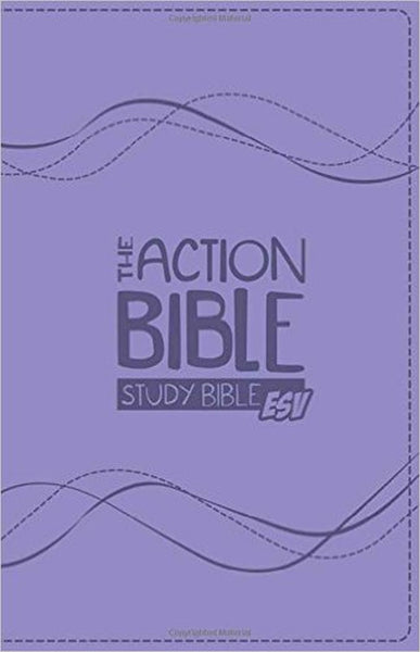 The Action Bible ESV Study Bible Girls Edition Lavender