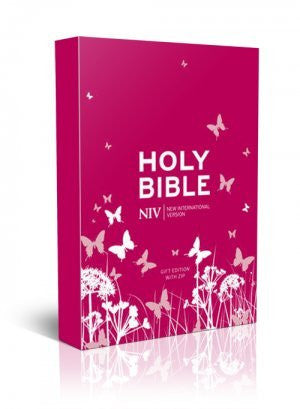 NIV Pocket Pink Soft-Tone Bible With Zip