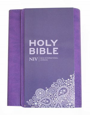 NIV Thinline Purple Soft-Tone Bible With Clasp  9781444701715