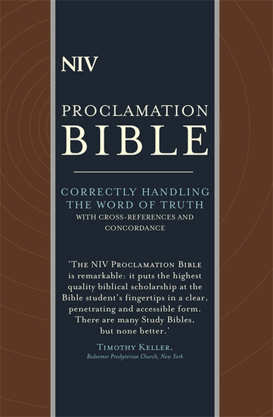 NIV Compact Proclamation Bible Leather  9781473607637