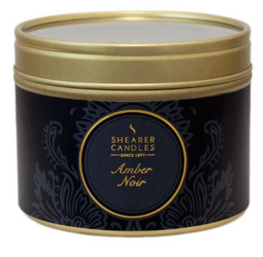 Amber Noir Scented Small Tin Candle