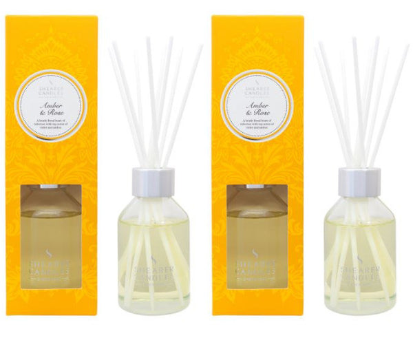 Amber & Rose Scented Room Diffuser 2 Pack