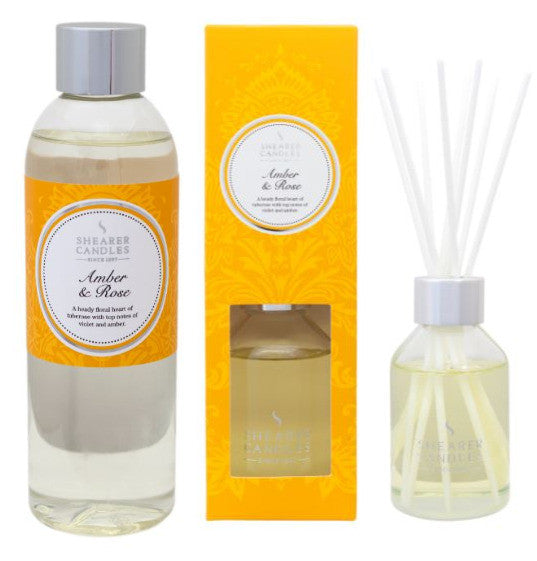 Amber & Rose Scented Room Diffuser and Refill