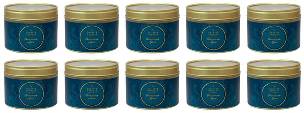 Cinnamon Spice Scented Small Tin Candle 10 Pack