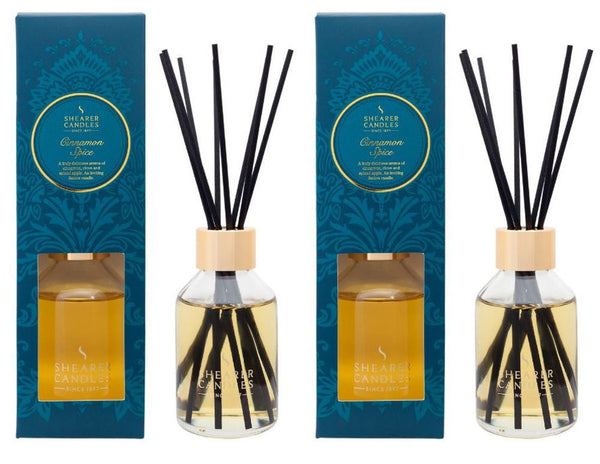 Cinnamon Spice Scented Room Diffuser 2 Pack