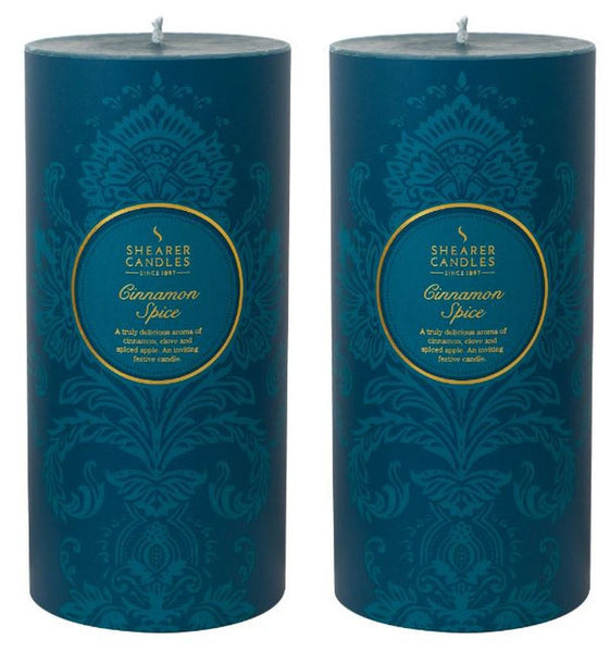 Cinnamon Spice Scented Pillar Candle 2 Pack