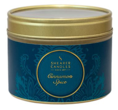 Cinnamon Spice Scented Small Tin Candle