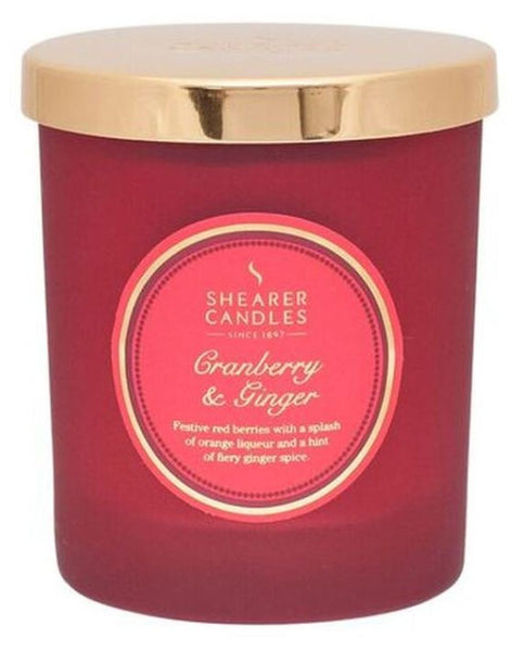 Cranberry and Ginger Scented Jar Candle