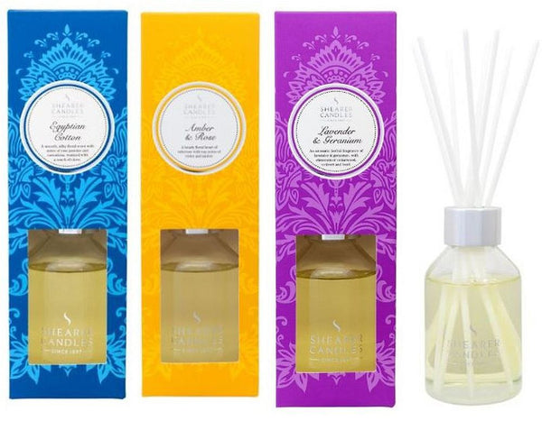 Christmas Reed Diffuser Collection - Amber and Rose, Egyptian Cotton, Lavender and Geranium