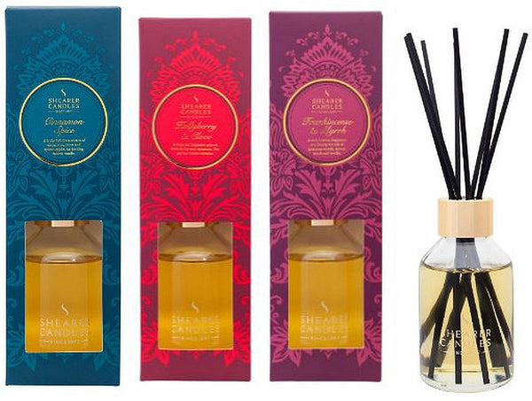 Christmas Reed Diffuser Collection - Frankincense and Myrrh, Hollyberry and Clove, Cinnamon Spice