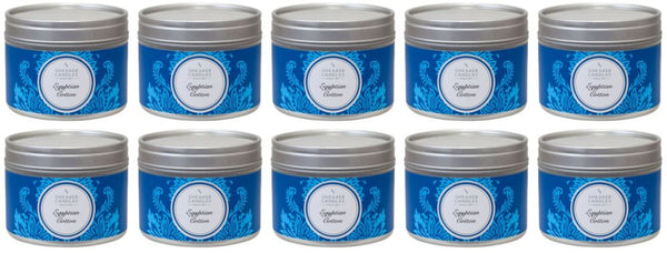 Egyptian Cotton Scented Small Tin Candle 10-Pack