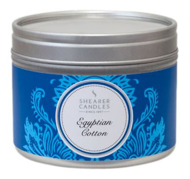 Egyptian Cotton Scented Small Tin Candle