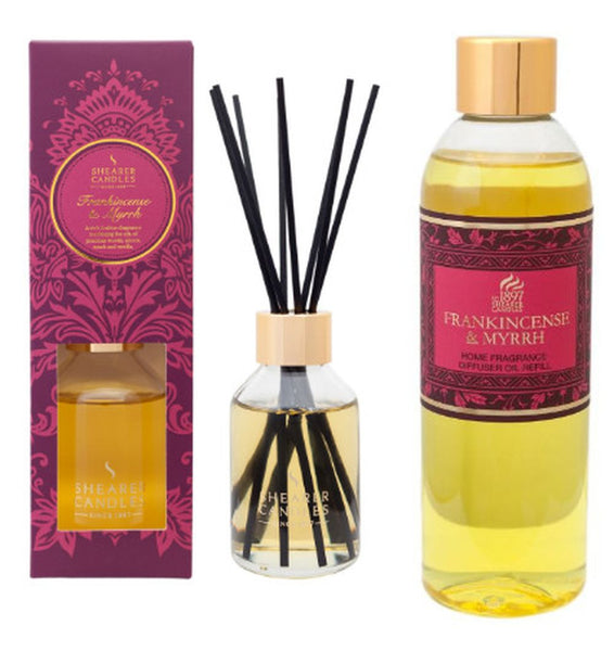 Frankincense and Myrrh Scented Room Diffuser and Refill