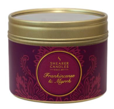 Frankincense & Myrrh Scented Small Tin Candle