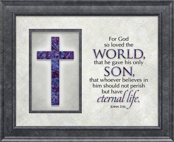 The Cross Series Plaque - For God So Loved