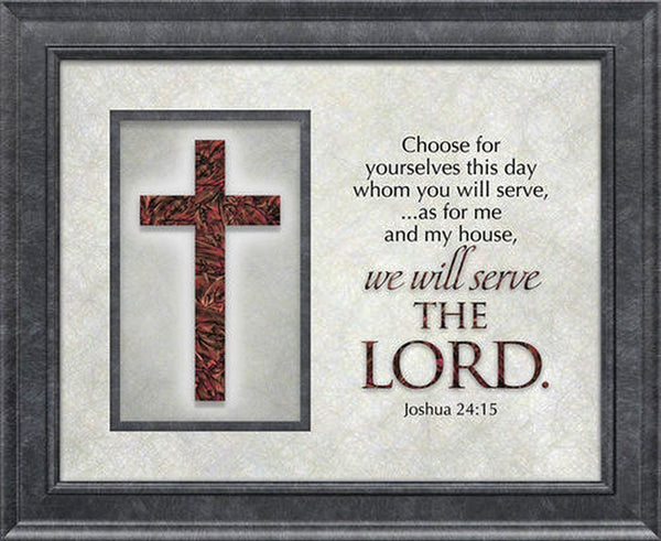 The Cross Series Plaque - Choose For Yourself