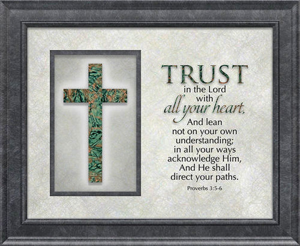 The Cross Series Plaque - Trust in the Lord