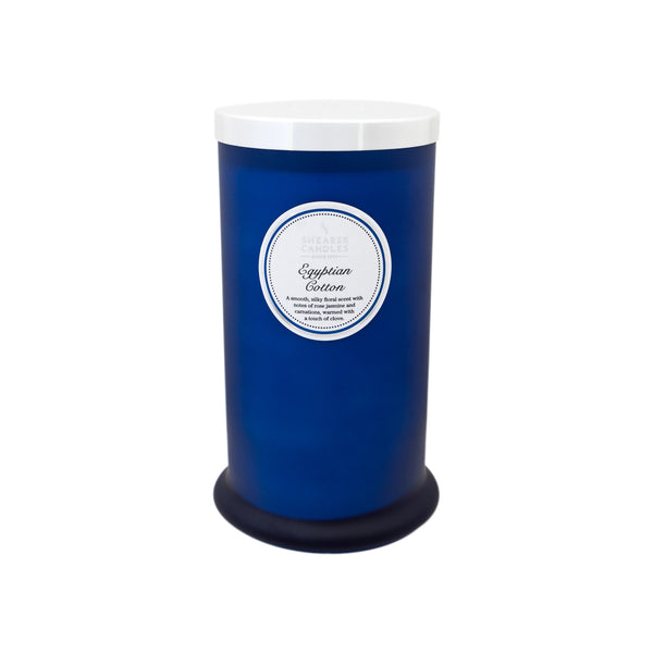 Egyptian Cotton Tall Pillar Jar Candle