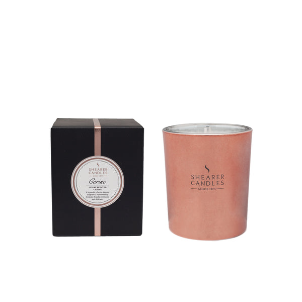 Cerise Scented Rose Gold Metallic Jar Candle in Gift Box