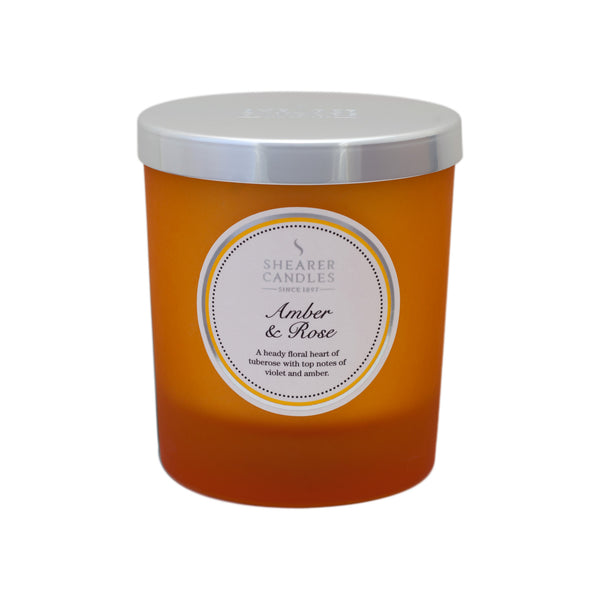 Amber & Rose Jar Candle