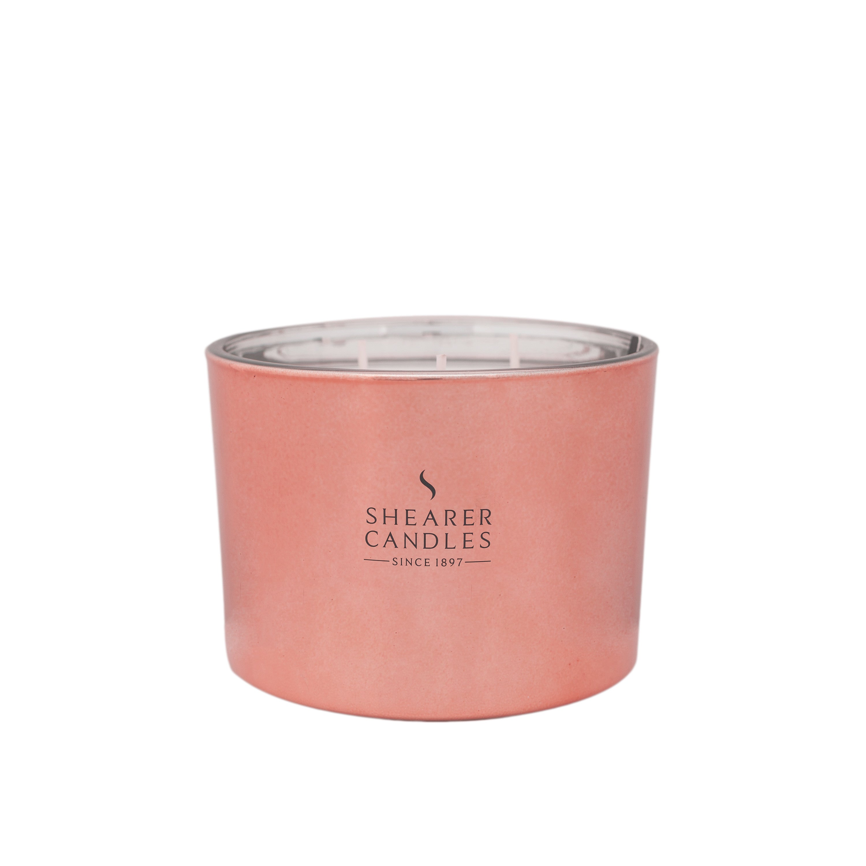 Multi Wick Candles Cerise Multi Wick Candle In Rose Gold Metallic Jar Iconnectdirect