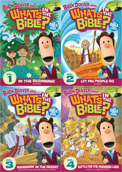 Buck Denver Asks... What's in the Bible? DVD Pack Vol 1,2,3&4