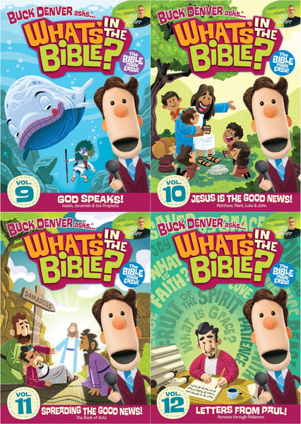 Buck Denver Asks... What's in the Bible? DVD Pack Vol 9,10,11&12