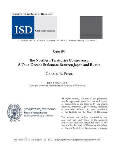 Case 194 - The Northern Territories Controversy: A Four-Decade Stalemate Between Japan and Russia