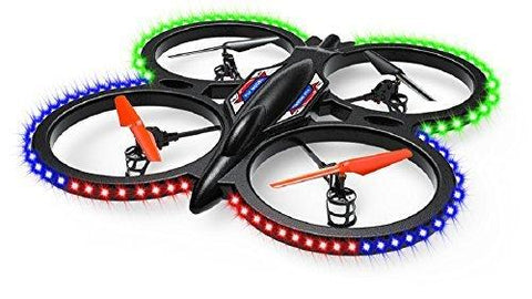 Stor UFO drone med LED-lys 2.4 Ghz 4CH 6-akses gyro