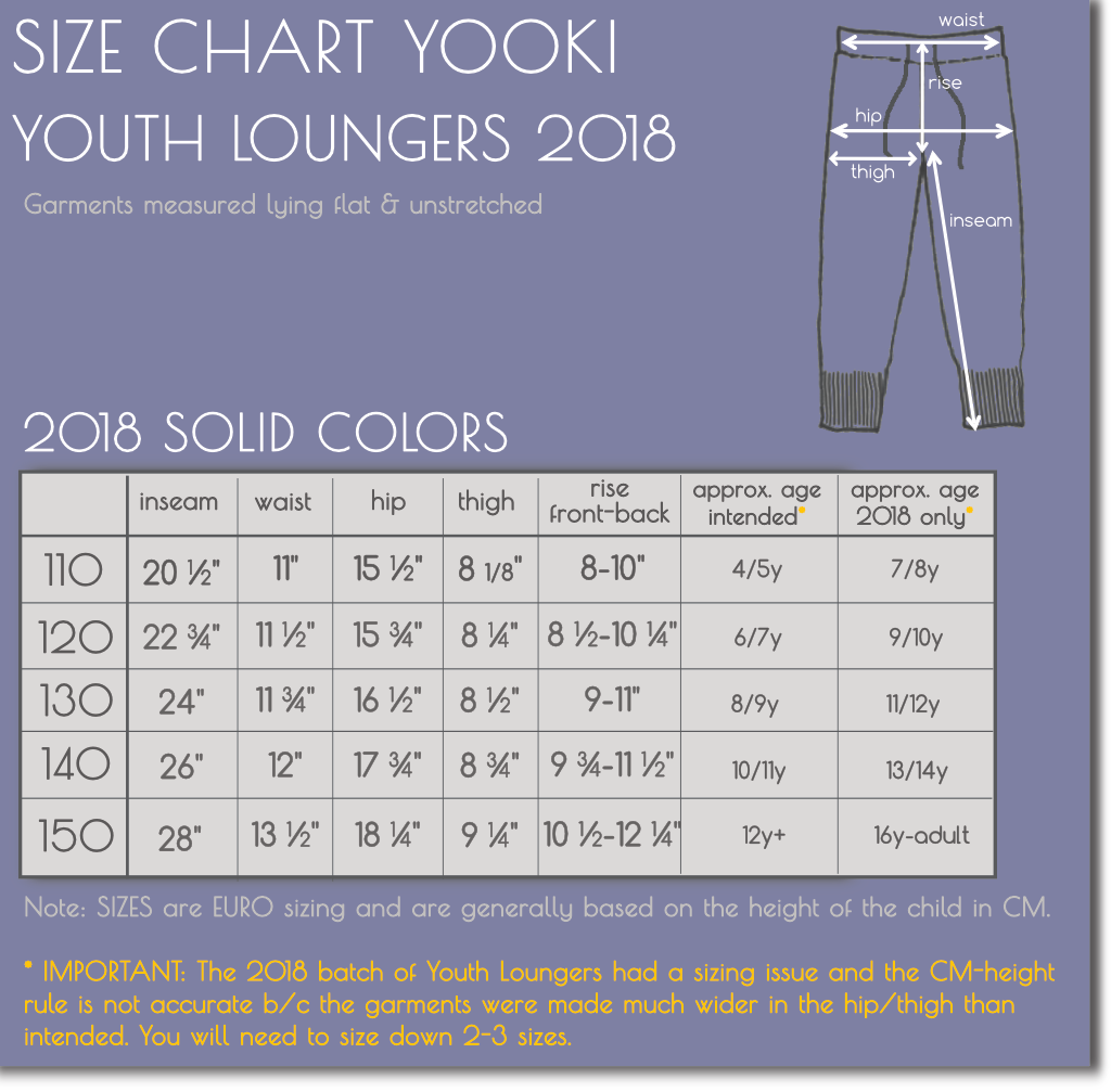 YOUTH MERINO WOOL LOUNGERS JOGGERS 2018 YOOKI