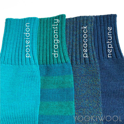blue teal turquoise yooki wool leggings longies