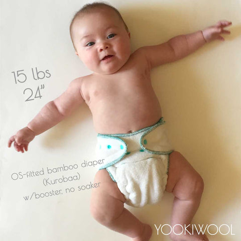 kurobaa fitted diaper 15 lb baby