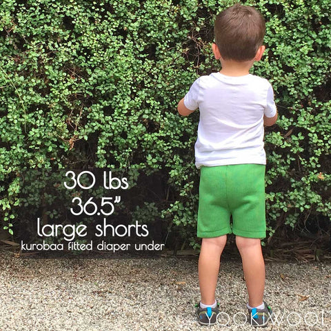 large shorts back fitted diaper 30 lbs