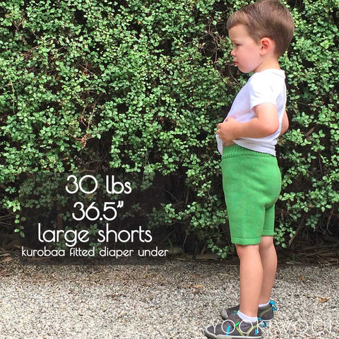 large shorts side fitted diaper 30 lbs