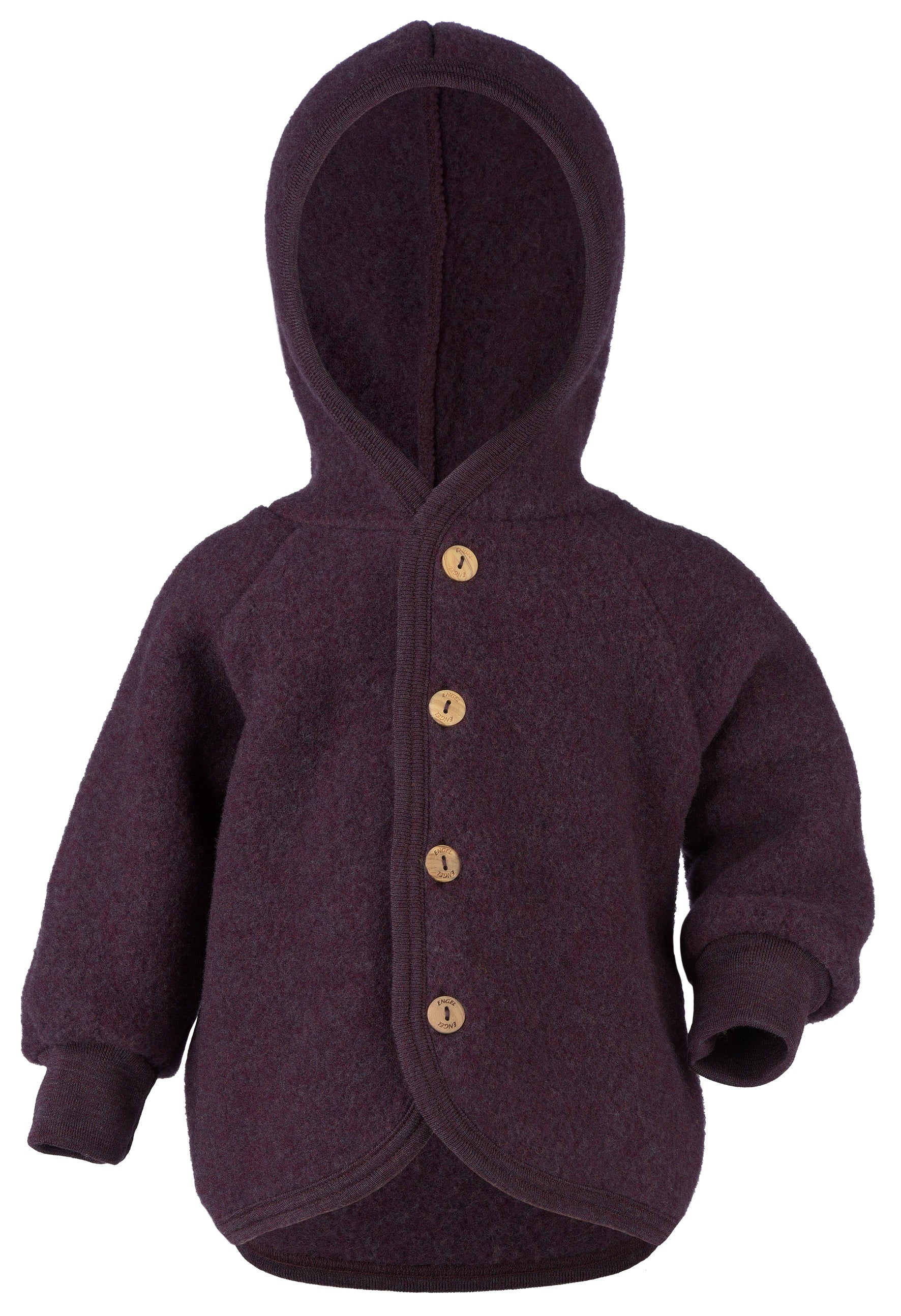 Engel Organic Merino Wool Fleece Jacket Hooded Yooki