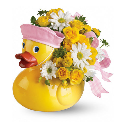 Ducky Delight Bouquet - Pink - Giving Blooms