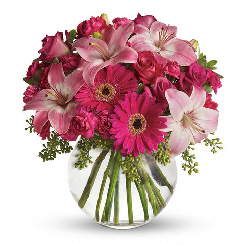 A Little Pink Me Up Bouquet - Giving Blooms