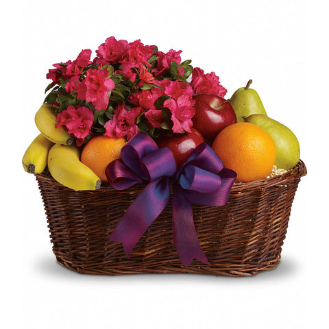 Fruit & Blooms Basket - Giving Blooms