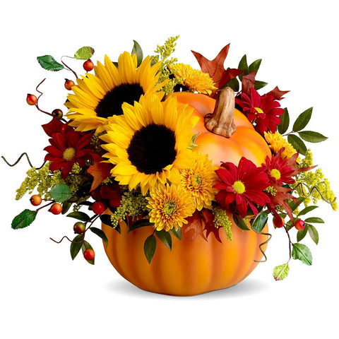 Pretty Pumpkin Bouquet - Giving Blooms