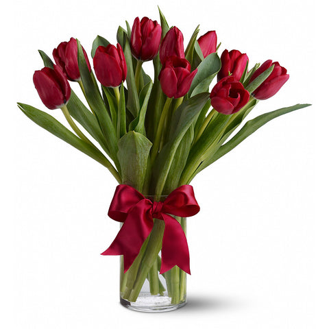 Radiantly Red Tulips Bouquet - Giving Blooms