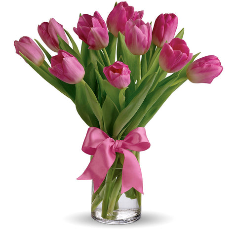 Precious Pink Tulips Bouquet - Giving Blooms