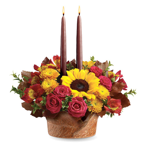 Sunny Thanksgiving Centerpiece - Giving Blooms