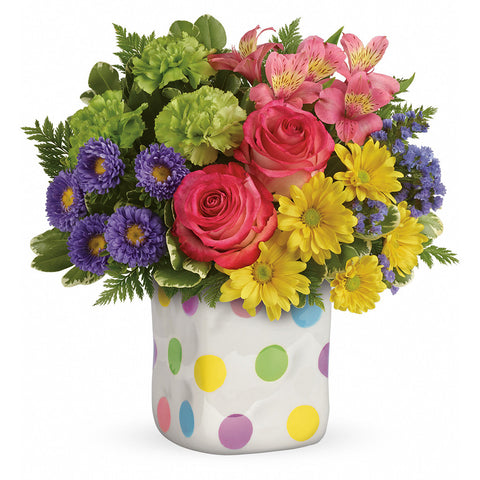 Happy Dots Bouquet - Giving Blooms
