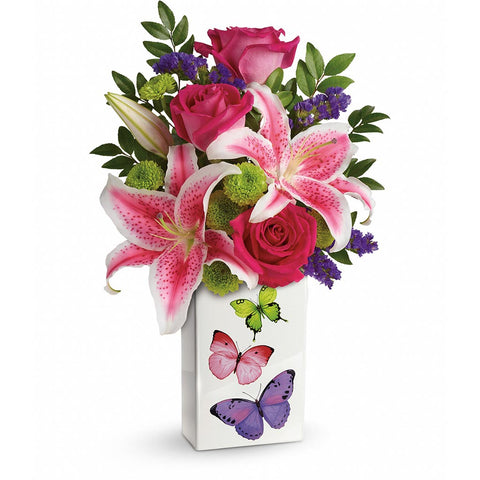 Brilliant Butterflies Bouquet - Giving Blooms