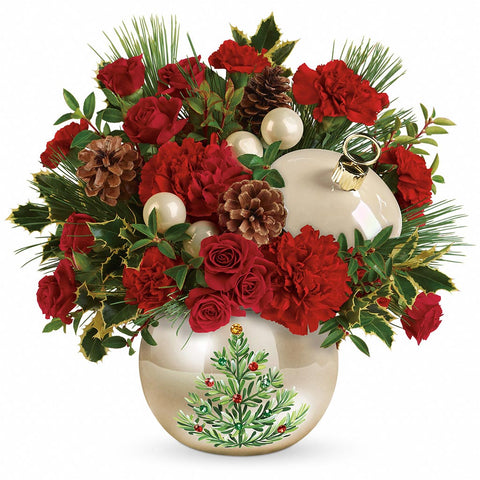 Classic Pearl Ornament Bouquet - Giving Blooms